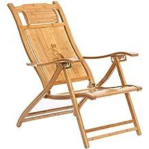 Chaise Longue De Jardin Confortable Avec En Bambou Detente Interieure Et Exterieure