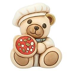 Idea Regalo - THUN® - Teddy On The Road Napoli Italia - Animali Soprammobili da Collezione - Ceramica - I Classici