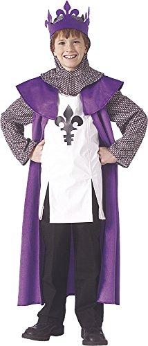 Disfraz de Rey medieval para niños, infantil 5-7 años (Rubie's 67194-M)