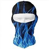 Aeykis Blue Flames Art Balaclava Face Mask Headwear Helmet Liner Gear Full Face Mask Hood Cycling Mask