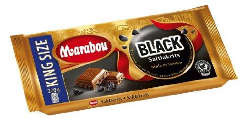 Marabou Salzlakritz 220g, 4er Pack (4 x 220 g) (Lakritze Schokolade)