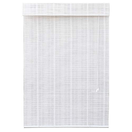 Bambusrollo Weiße Bambus-Rollos mit Schiene/Seitenzug, Fenster-Licht-Filterung Roll-Ups für Haustüren/Terrassen, (größe : 70x90cm) -