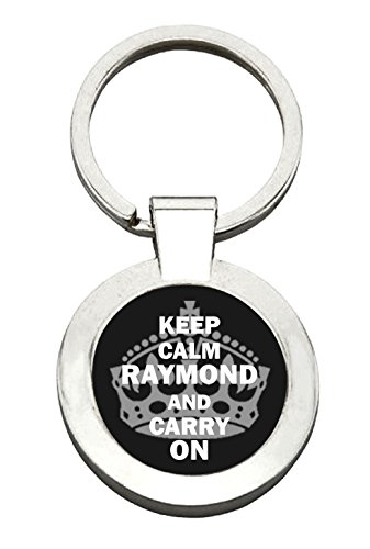 raymond-keep-calm-carry-on-personalised-name-keyring-key-ring-ideal-gift-present