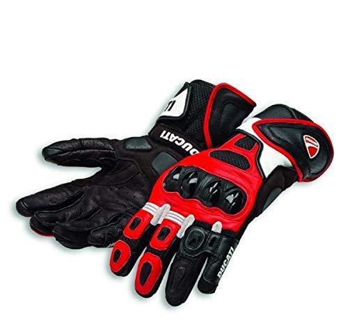 Ducati Speed Air C1 Handschuhe aus Leder rot/weiß Größe M
