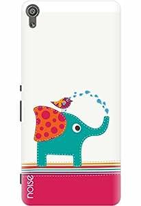 Noise Designer Printed Case / Cover for Sony Xperia XA Dual / Comics & Cartoons / Bird and Elephant Design