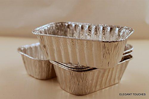 Folien-kochen-pfannen (Set von 10Mini Einweg Aluminium Folie Laib Pfannen)
