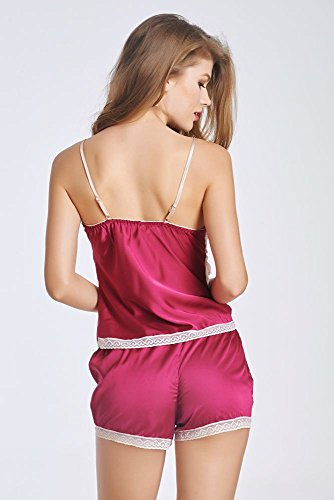 Women Dress Nuisette Pyjamas Pyjamas S-2XL Rouge