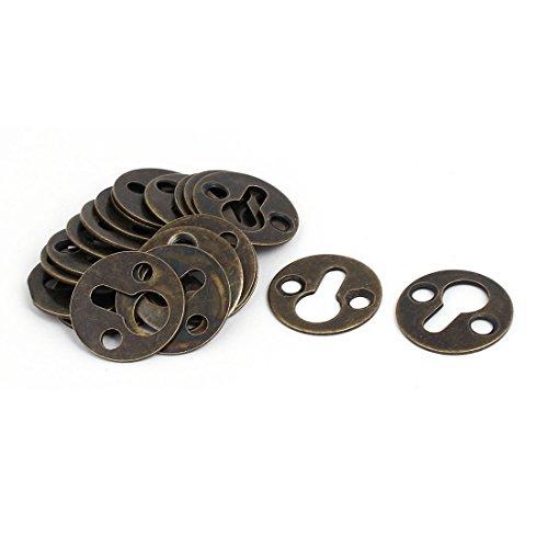 Uxcell a16112100ux0193 Bilderrahmen, 25 mm Durchmesser, runde Form, Schlüssellochhalterung, Metall, 20 Stück