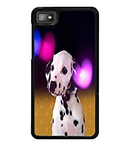 PrintDhaba Cute Dog D-2829 Back Case Cover for BLACKBERRY Z10 (Multi-Coloured)