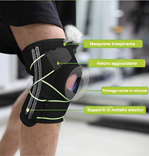 Zoom IMG-1 bangerax tutore ginocchio ginocchiera rotulea