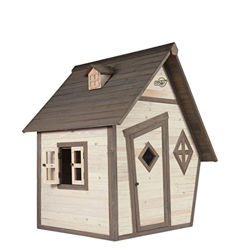 SUNNY Kinderspielhaus Kinderhütte Kinderholzhaus Spielhütte