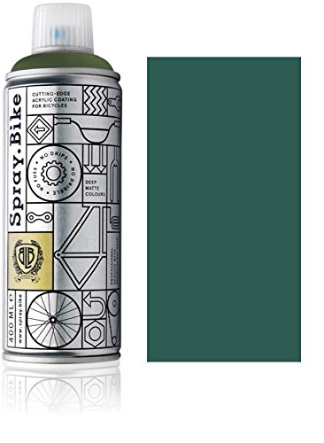 Fahrrad Lackspray in versch. Farben - KEINE GRUNDIERUNG notwendig - Acryllack / Lack Spray in 400 ml Spraydose, Matt- und Klarlack Optik möglich (Britisches Renngrün