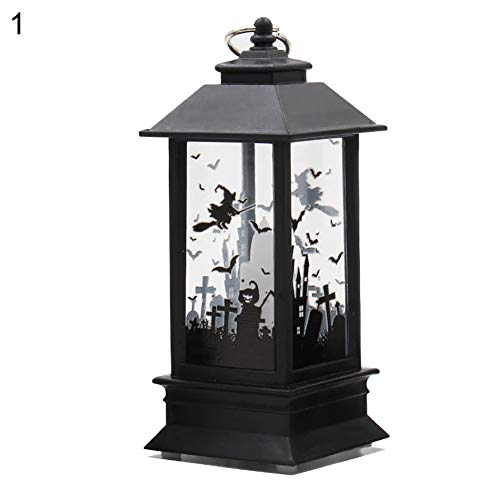 Dandeliondeme Halloween Kerzeneffekt Licht, dekorative LED Lampe Schloss Kürbis Friedhof Spooky Bar Party Light 1#