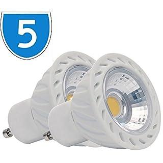 5x 5W = 30W 240V 35W 410lm GU10LED Spot Lampe, 6400K COB Cool Daylight Weiß Energiesparende Strahler 86480D Birne