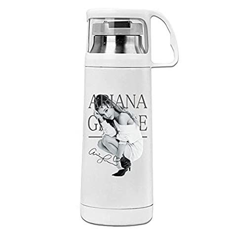 Handson Stainless Steel Vacuum Insulated Tumbler Ariana Singer Grande Insulated Thermos Cup White