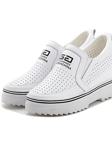 WSS 2016 Chaussures Femme-Décontracté-Noir / Blanc / Argent-Plateforme-Bout Arrondi-Chaussures à Talons-Cuir silver-us5.5 / eu36 / uk3.5 / cn35