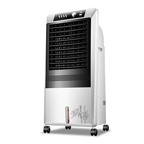 CYLQ Climatiseur Mobile,Portable Évaporatif Air Conditionné, 3 Vitesses du Ventilateur Et Minuterie, Maison Bureau Tranquille Ventilateur Froid 65W Blanc (Color : White)
