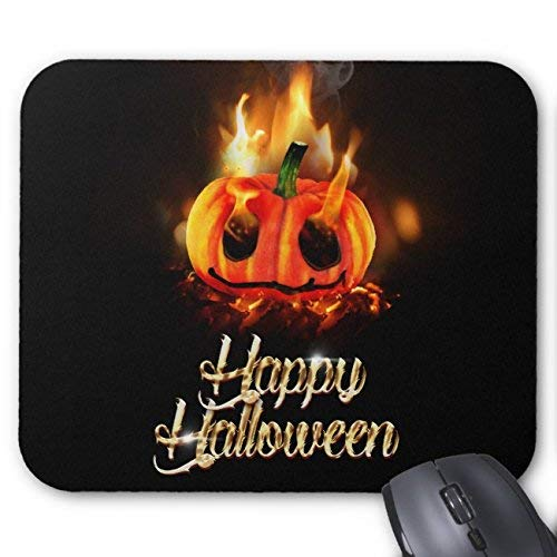 Pumpkin in Hell Happy Halloween Mouse Pad Rectangle Non-Slip Rubber Personalized Mousepad Gaming Mouse Pads (Happy Corgi Halloween)
