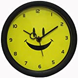 Smile Black Yellow Color Wall Clock / Watch ,Gifts,Descent For Home And Office