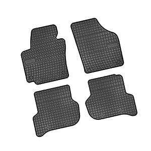 Bär-AfC VW04470 Gummimatten Auto Fußmatten Schwarz, Erhöhter Rand, Set 4-teilig, Passgenau für Modell Siehe Details