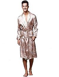 544e521762 BOYANN Nightwear Kimono Robe for Men Dressing Gown Bathrobes Pajamas