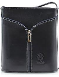 H&G Vera Pelle Mini Italian Real Leather Cross-Body Handbag