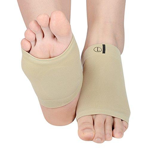 SOUMIT Orthotics Socken | Weich Silikon-Gel Korrektur Bogen Pads, Massag fußbett Plattfuß Unterstützung für Plantar Fasciitis Schmerzlinderung (Männer & Frauen, Länge: 10,7CM) -