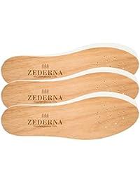 Zederna 3 Paar Zedernsohlen 100% natürliche & antibakterielle Zedernholzsohlen gegen Schweißfüße, Fußgeruch, Fußpilz, Nagelpilz