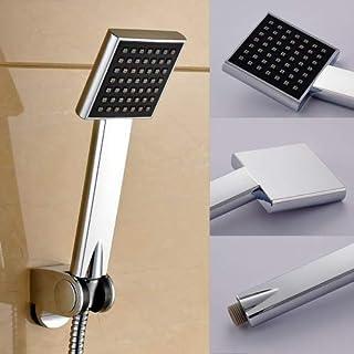 Auralum® Modern Chrome Single Function Handheld Shower Showerhead for DIY Bathroom Installation(Square)