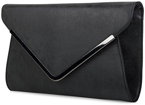 styleBREAKER borsa clutch a busta, borsetta da sera con design a quadri con bretelle e tracolla, donna 02012047, colore:Rosa Nero