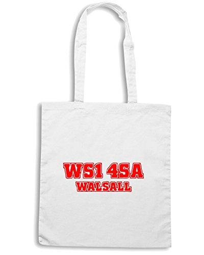 T-Shirtshock - Borsa Shopping WC1082 walsall-postcode-tshirt design Bianco