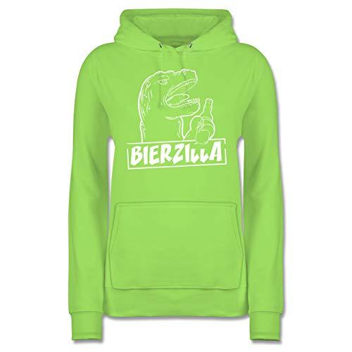 Shirtracer Halloween - Bierzilla - L - Limonengrün - JH001F - Damen Hoodie