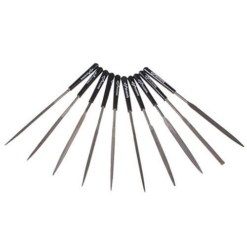 1Set de 10 de limas de aguja para metal, vidrio y madera