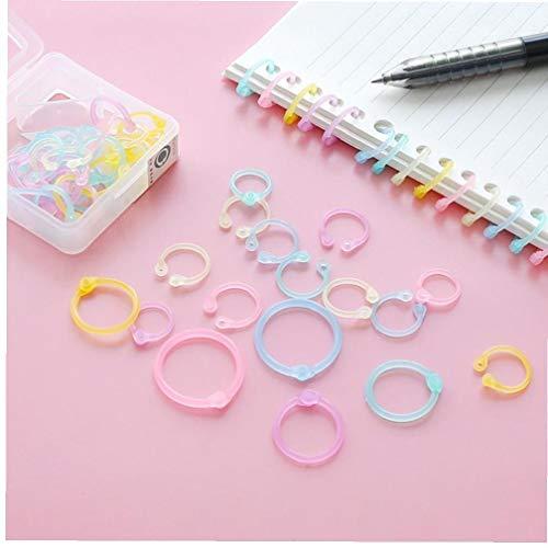 Gamloious 1 caja de proceso anillo del calendario cuaderno colorido es Simple anillo de llavero aglutinante de plástico de Color multifunción Medio papelería Amarillo y Verde