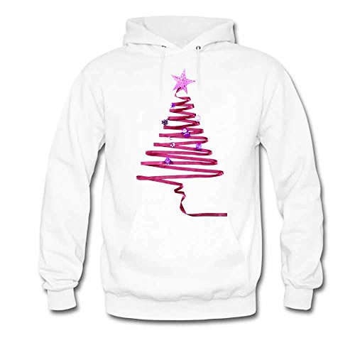 Abstract Ribbons Red Christmas Tree Women's Hoodies XL