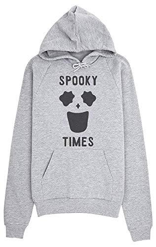 Spooky Times Funny Minimal Ghost Face Kapuzenpulli für Damen Medium