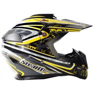 Casco Mx Stealth 2015 Hd210 Droid Giallo (L , Giallo)