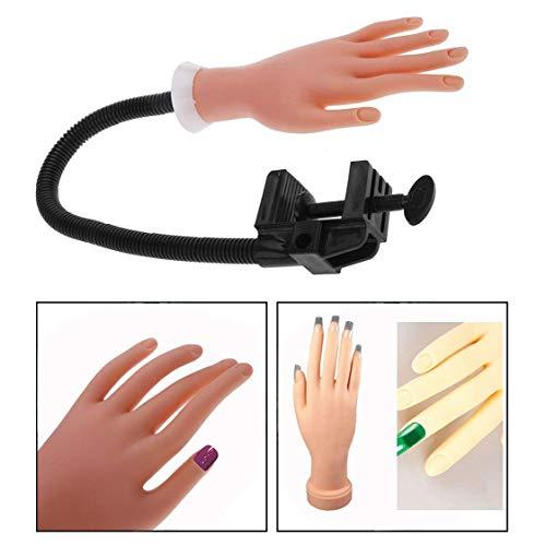 Binnan Übungshand für Nageldesign,Nail Training Handmodell für Manicure der Nägel und Ausstellung