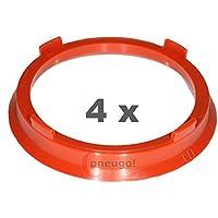 4 anelli di centraggio in alluminio anodizzati alluminio 74,1-72,6 PROLINE Schmidt