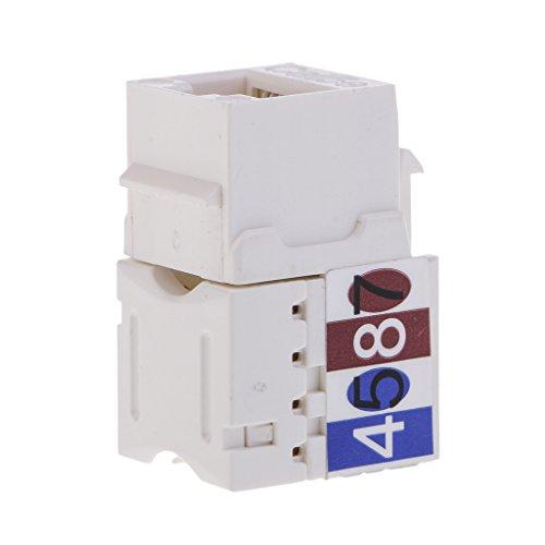 Baoblaze RJ45 Ethernetkabel Kupplung Cat6 Ethernet Kabel Verbinder mit RJ45 Buchse geschirmte Ethernet Adapter (Blöcke Idc 110)