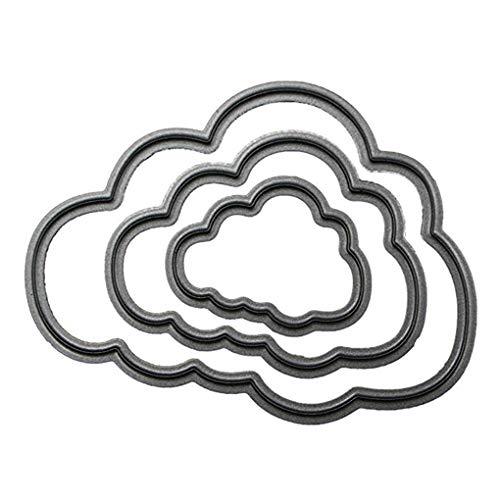 NAYUKY Niedlicher Wolken-Rahmen-Schablonen-Prägestempel des Kohlenstoffstahls stirbt Scrapbooking-Karten-Fertigkeit 3D