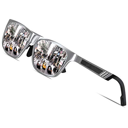 KITHDIA Männer Frauen Aluminium Polarisierte Herren Sonnenbrillen Spiegel Sonnenbrillen