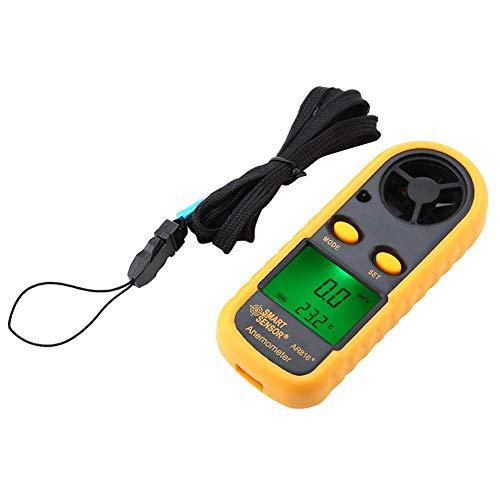 Anemómetro digital, Walfront Smart Sensor AR816+ Digital LCD Anemómetro de mano medidor de velocidad...