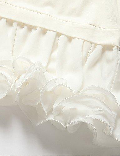 LYQ/ Robe Aux femmes Grandes Tailles Grandes Tailles / Vintage / Soirée / Travail / Décontracté , Couleur Pleine / Imprimé Col ArrondiAu screen color-3xl