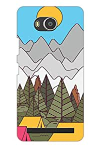 AMAN Cartoons Drawing 3D Back Cover for Lenovo A7700