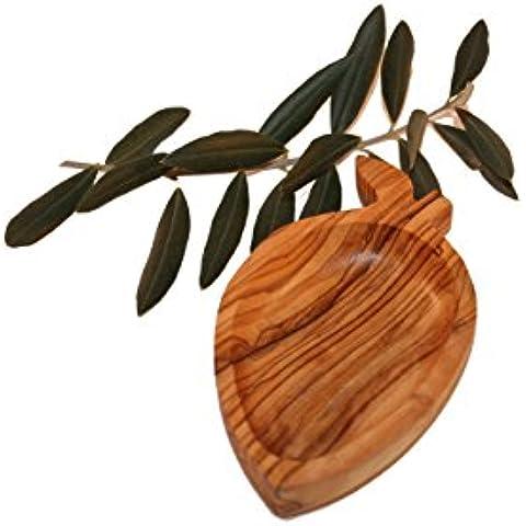 Porta anelli a forma di oliva in legno d