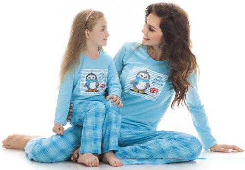 Cornette Damen Schlafanzug CR-655-Arctic Friend Türkis