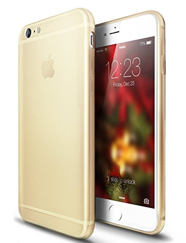 VAPIAO iPhone 6 Plus, 6s Plus Hülle Crystal Matt Case TPU Schutzhülle Back Cover Anthrazit Grau Gold