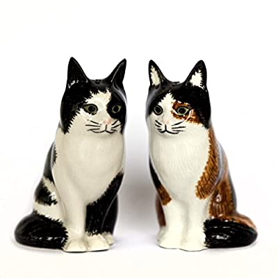 Quail Ceramics Poppet & Oliver Cat Salt & Pepper Pots by Quail