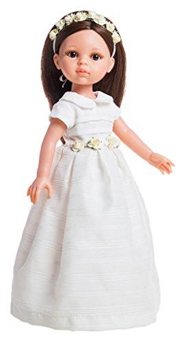 Paola Reina 74821Vestido con Zapatos para 32cm Carol muñeca de comunión